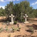 Graves markers at Cristo Rey Cemetery
