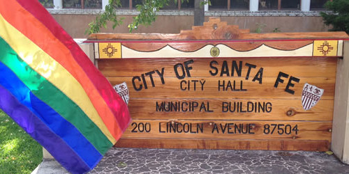 Pride Flag Above City Hall