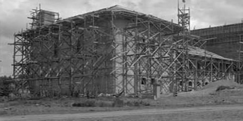Scottish Rite Temple under construction
