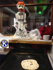 Zozobra making Tortillas