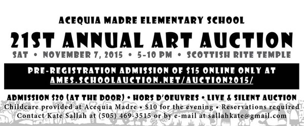 Acequia Madre Art Auction