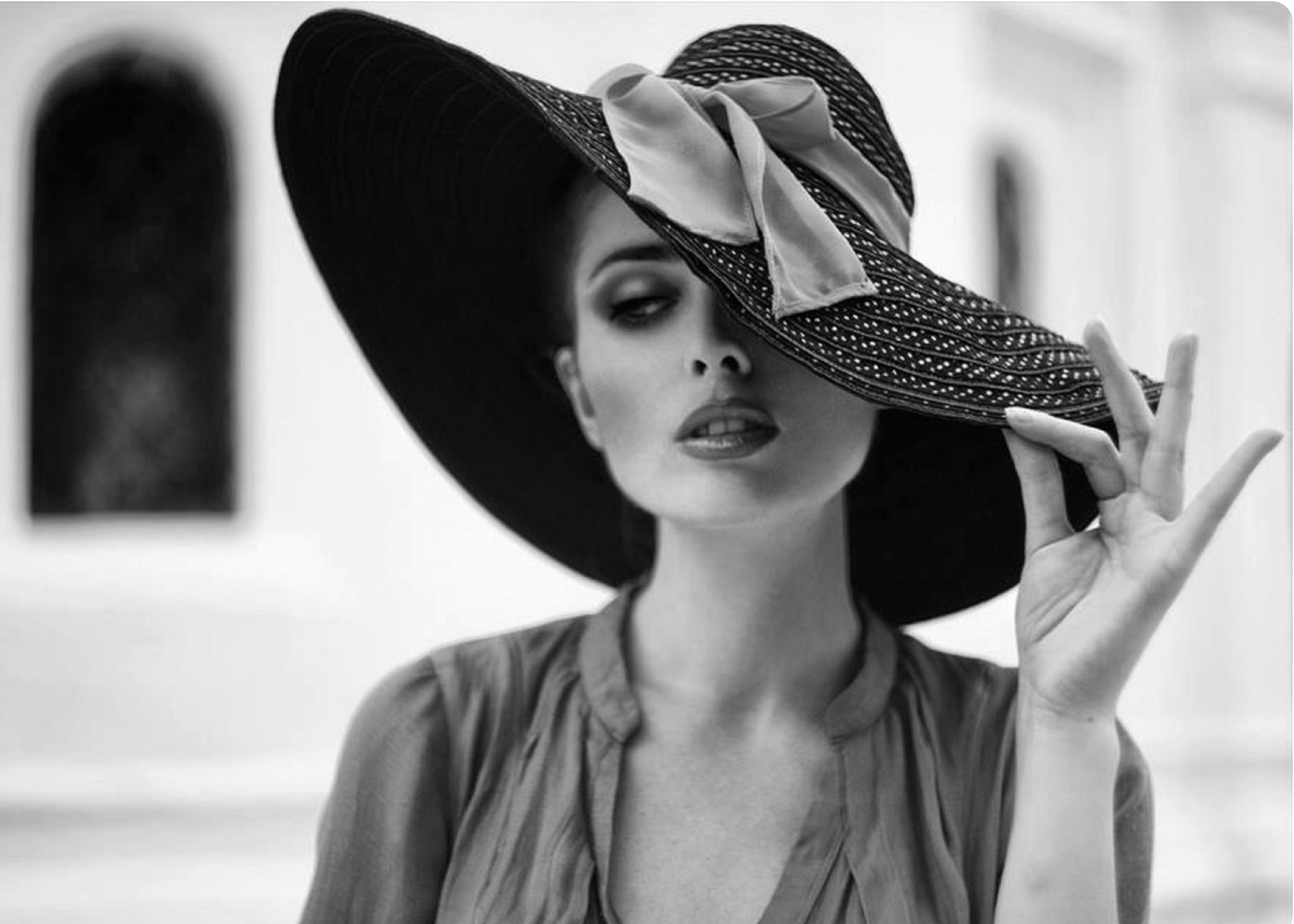 Free Images : grass, person, girl, woman, model, spring ... |Hat Fashion Photography