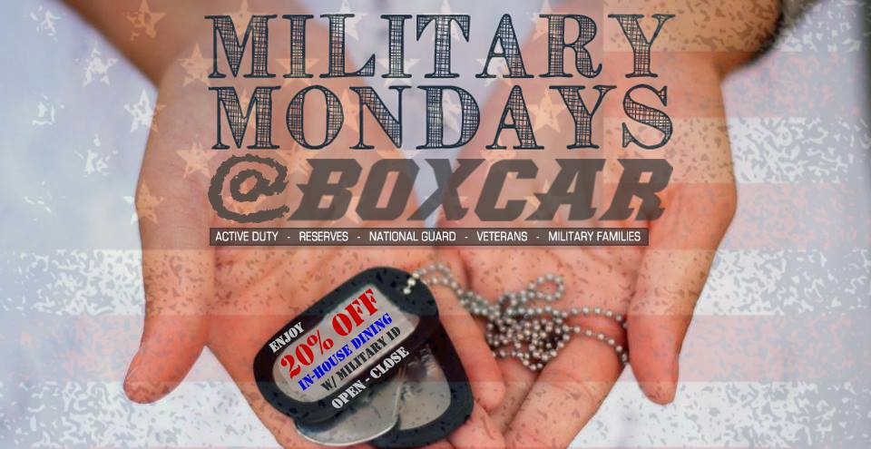 Military Mondays at Boxcar