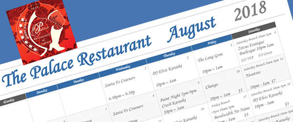 August Events at the Palace