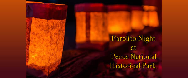Farolito Walk at Pecos National Historical Park