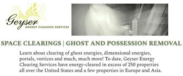 Ghost/Possession Removal and Energy Clearings