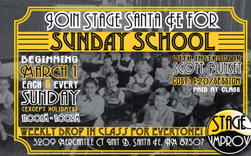 Sunday School at Stage Santa Fe