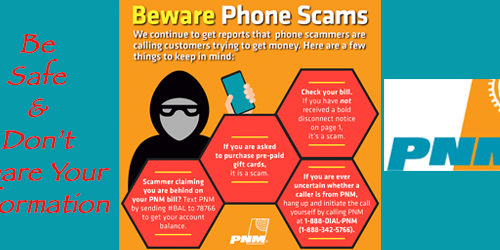 Scammers Targeting PNM Customers