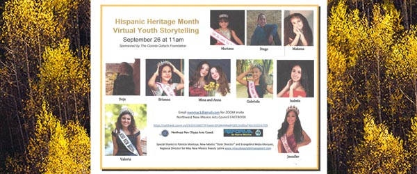 Hispanic Heritage Month Virtual Youth Storytelling